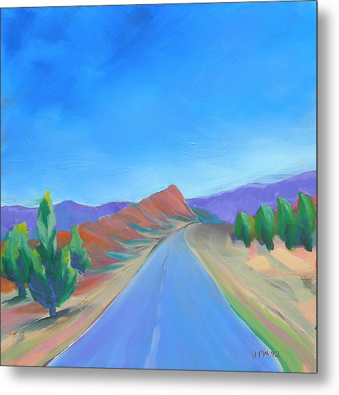 Southwest Metal Print featuring the painting Canyon Dreams 13 by Pam Van Londen