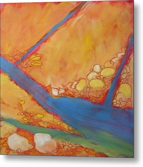 Southwest Metal Print featuring the painting Canyon Dreams 24 by Pam Van Londen
