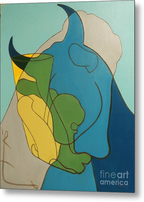 Horse Metal Print featuring the painting Heritage by Ziba Bastani