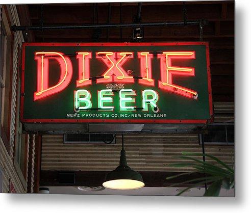 Studio Dalio - Antique Dixie Beer Neon Sign Metal Print
