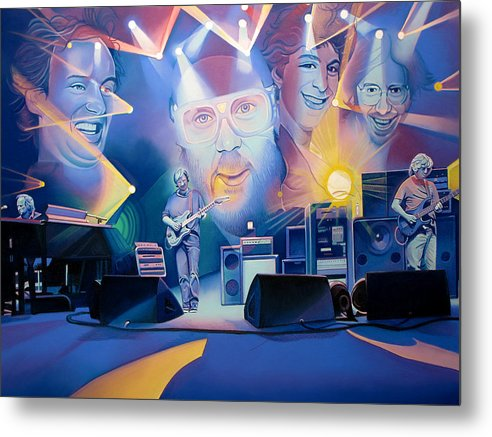 Phish Metal Print featuring the drawing Phish-20 Years Later by Joshua Morton