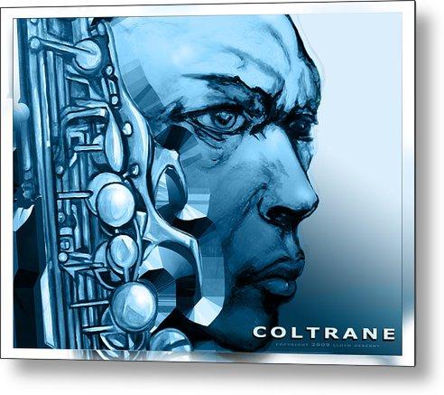 John Coltrane Print Metal Print featuring the painting Coltrane by Lloyd DeBerry