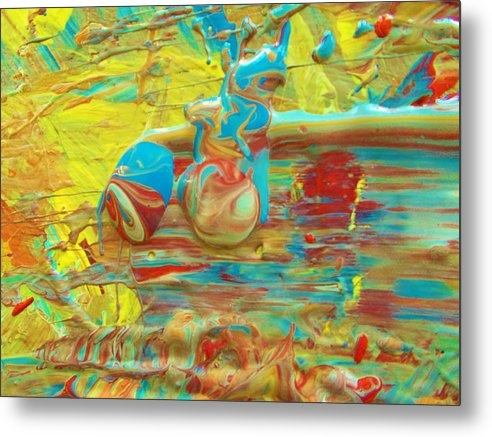 Original Metal Print featuring the painting Here Is Looking At You by Artist Ai