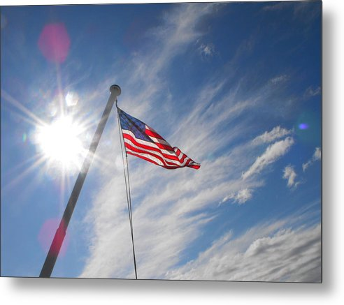 Flag Metal Print featuring the photograph Our Flag by Phyllis Britton