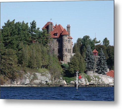 Landscape Metal Print featuring the photograph Singer Castle by Carolina Russell