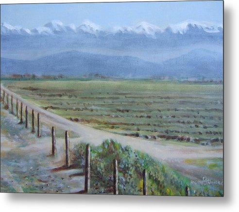 Landscape Metal Print featuring the painting Central Valley At Tulare by Howard Stroman