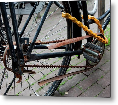 Chain Metal Print featuring the photograph Chained by Louis Prinsloo