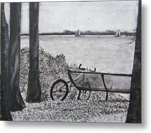 Bicycle Metal Print featuring the painting Enjoy The View by Fernando Armel