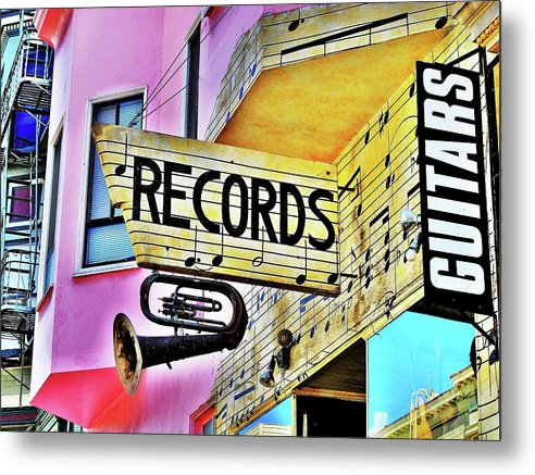 Music Metal Print featuring the photograph Its About Vinyl by John King