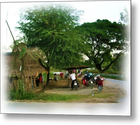 Thailand Metal Print featuring the painting Neighborhood Restaurant 2 by Bates Clark