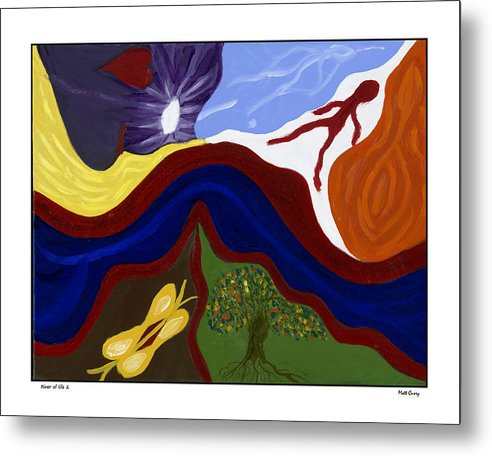 Abstract Metal Print featuring the painting River Of Life #2 by Matt Curry