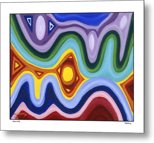Abstract Metal Print featuring the painting The River Of Life by Matt Curry