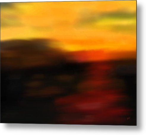 Abstract Art Metal Print featuring the painting Day's End by Gerlinde Keating - Galleria GK Keating Associates Inc