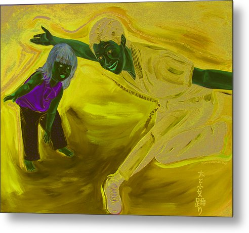 Kevin Callahan Metal Print featuring the painting Big And Little Women Dancing by Kevin Callahan