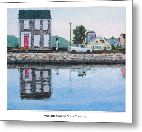 Morning Walk Metal Print featuring the painting Morning Walk Note Card by Glenn Tunstull