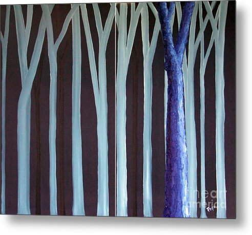Abstract Metal Print featuring the painting Down Front by Paul Anderson