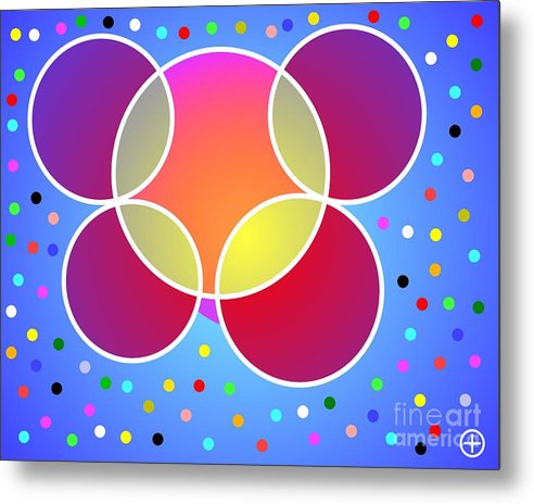 Energy Metal Print featuring the painting Unseen Energy by Hype