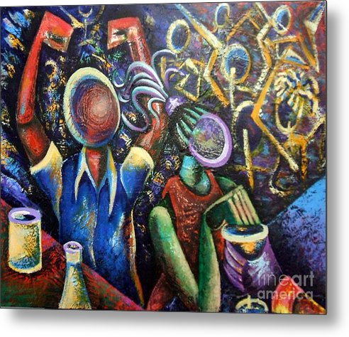 Party Metal Print featuring the painting Life Of The Party by DAndre Brooks