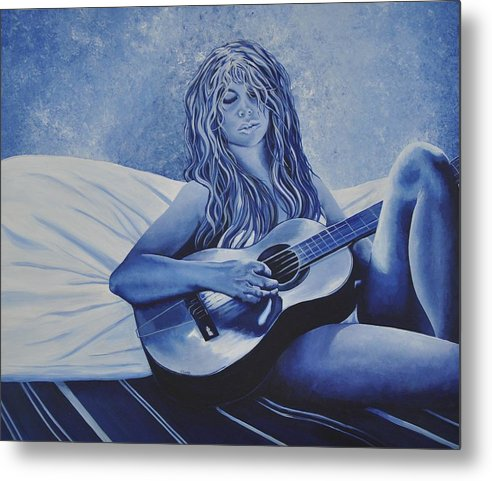 The Blues Metal Print featuring the painting Good Day For The Blues by Jessi Smith