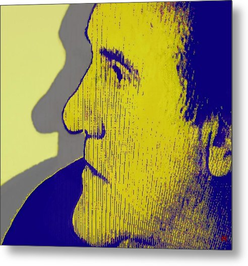 Portrait In Profile Metal Print featuring the photograph The Legendary Gerard Depardieu by Annick Portal
