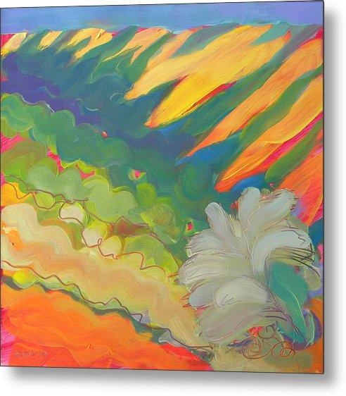 Southwest Metal Print featuring the painting Canyon Dreams 17 by Pam Van Londen