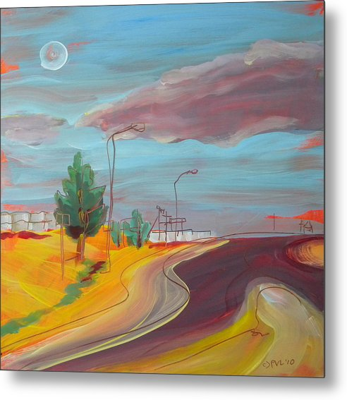 Arizona Metal Print featuring the painting Arizona Highway 1 by Pam Van Londen