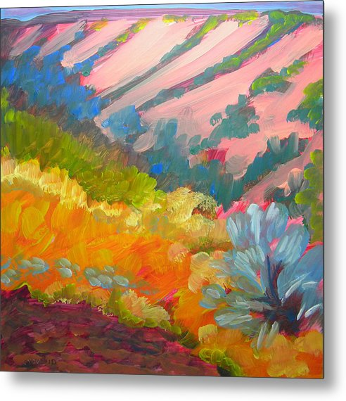 Southwest Metal Print featuring the painting Canyon Dreams 7 by Pam Van Londen