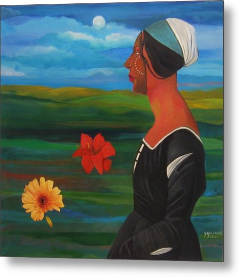 Figure Metal Print featuring the painting Revealed Truths And Myths 7 by Joyce Owens
