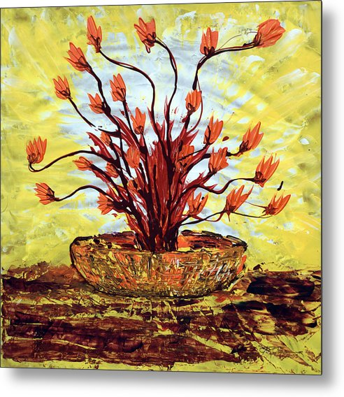 Impressionist Painting Metal Print featuring the painting The Burning Bush by J R Seymour