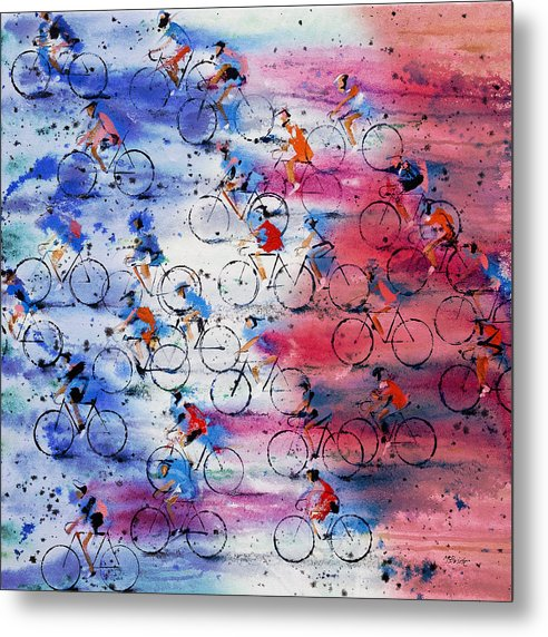 Painting Metal Print featuring the painting Tour De France by Neil McBride