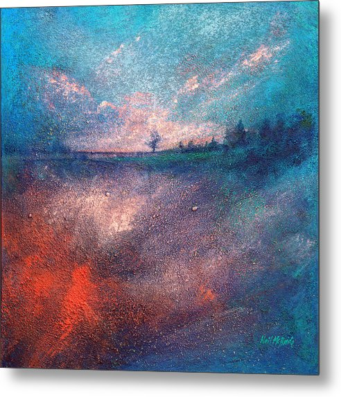 British Metal Print featuring the painting Dreamscape One by Neil McBride
