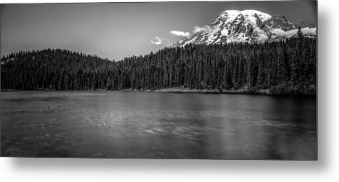 Rainier Metal Print featuring the photograph bw by Bryan Hildebrandt