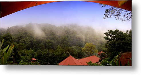 La Paz Metal Print featuring the photograph Early Morning Mist Over The Rain Forest by Michael Kogan