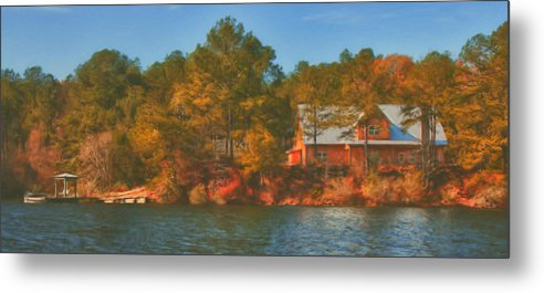 Farm Metal Print featuring the photograph Lake House by Brenda Bryant
