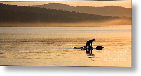 Lake Waukewan Metal Print featuring the photograph One With Nature 2 by Michael Mooney