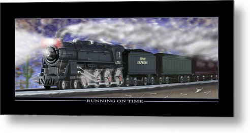 Time Related Art Metal Print featuring the photograph Running On Time by Mike McGlothlen