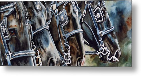 Shire Metal Print featuring the painting 4 Shires by Nadi Spencer