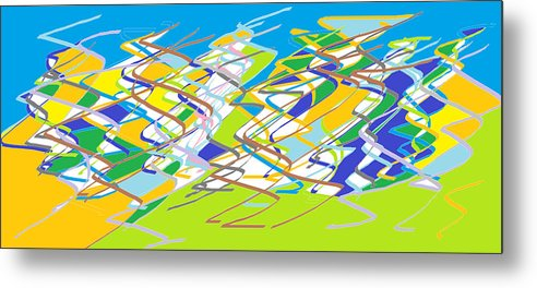 Crazy Metal Print featuring the digital art Crazy Colors by Navneet Choudhary