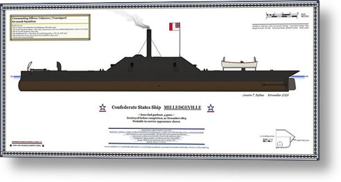 Navy Metal Print Featuring The Digital Art Css Milledgeville Color Profile By Saxon Bisbee