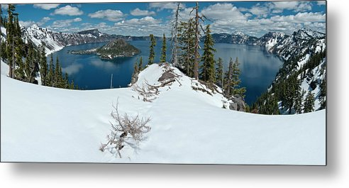 Panorama Metal Print featuring the photograph Discovery Point Panorama by Greg Nyquist