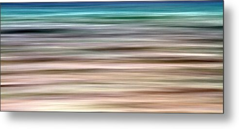 Abstract Metal Print featuring the photograph Sea Movement by Stelios Kleanthous