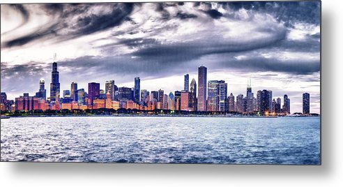 Chicago Skyline Metal Print featuring the photograph Chicago Skyline by Patrick Warneka