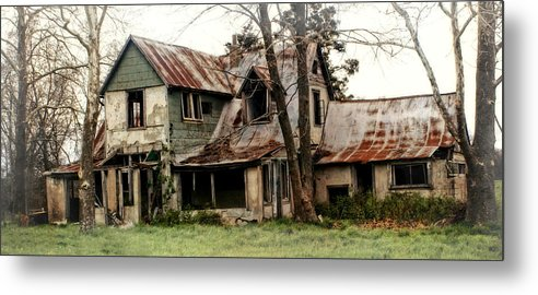 Haunted House Metal Print featuring the photograph Haunted by Marty Koch