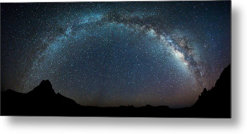 Stars Metal Print featuring the photograph Milky Way Bow by Chris Multop