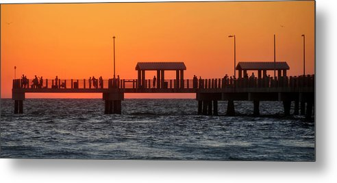 Fishing Pier Metal Print featuring the photograph Panoramic Pier by David Lee Thompson