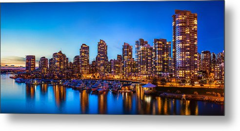 Panorama Metal Print featuring the photograph Yaletown From Cambie Bridge by Alexis Birkill