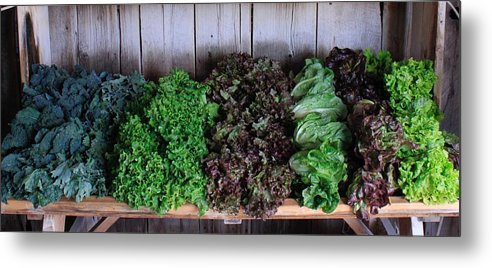 Organic Crops Metal Print featuring the photograph Fresh Produce Stand by Rose Webber Hawke