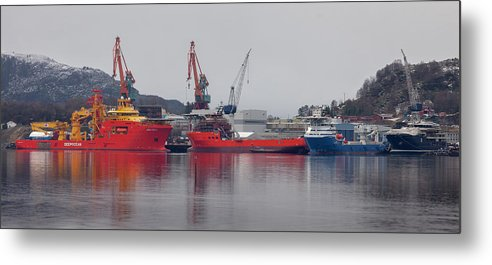 Kleven Metal Print featuring the photograph Kleven Yard Norway by Arild Lilleboe