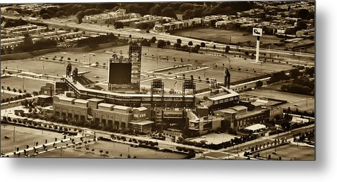 Sports Metal Print featuring the photograph Phillies Stadium - Citizens Bank Park by Bill Cannon
