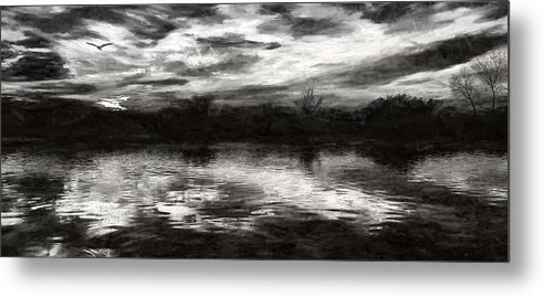 Through The Darkness Metal Print featuring the photograph Through The Darkness by Lisa S Baker